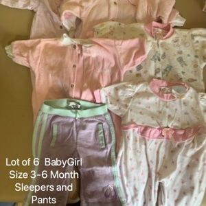 4/$25 🌸 lot of 6 size 3-6 m babygirl clothes